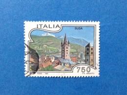 1995 ITALIA TURISTICA SUSA FRANCOBOLLO USATO STAMP USED - 6. 1946-.. Republic