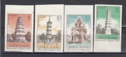 Vietnam Nord 1961 - Old Towers, Mi-Nr. 176/79, Imperforated, MNH** - Vietnam