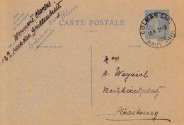EP Y&T 237-CP1 Obl COLMAR GARE Du 21.3.1933 Adressé à Strasbourg - Marcophilie (Lettres)