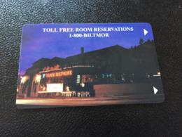 Hotelkarte Room Key Keycard Clef De Hotel Tarjeta Hotel BILTMORE CASINO LAKE TAHOE - Telefonkarten
