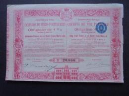 PORT PORTUGAL, LISBOA 1895 - CIE ROYALE DES CHEMINS DE FER PORTUGAIS - OBLIGATION 4% DE 500 FRS OR - DECO - - Shareholdings