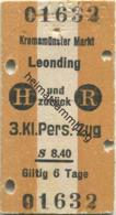 Österreich - Kremsmünster Markt Leonding Und Zurück - Fahrkarte 3. Kl. Personenzug S8.40 1949 - Bahn