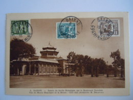 Saigon Entrée Du Jardin Botanique Par Le Boulevard Norodom Vue Du Musée Blanchard 1936 Timbre Indochine Yv  150 155 157 - Vietnam