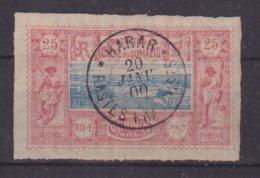"""COTE DES SOMALIS : N° 12 . OBL . """" HARAR POSTES FRANCAISES """" . B . 1900 . - Usados"""
