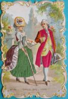 CHROMO GAUFREE AVEC FILS TISSUS - N° 24  LOUIS XVI 1780 - SCAN RECTO/VERSO - Chromos