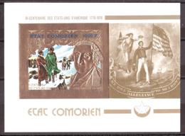 COMORES - Bloc Or Et Multicolore - Non Dentelé - Neuf ** - 1976 - George Washington - Comores (1975-...)