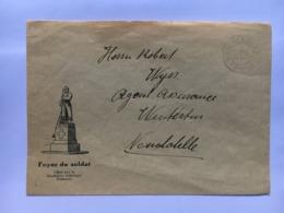 SWITZERLAND Grenz Feldpost Postmark With `Foyer Du Soldat` Illustration To Neuchatelle - Poste Militaire