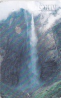 Venezuela, CAN2-0573Ba, Salto Angel (2/5), Waterfall, 2 Scans.   GEM2 (White/Gold) - Venezuela