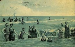 CPA - Belgique - Oostende - Ostende - La Plage  - Au Bain De Famille - Oostende
