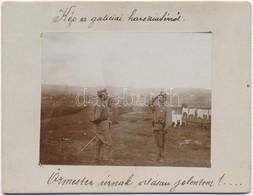 T2 1914 'Őrmester úrnak Alásan Jelentem!' Osztrák-magyar Katonák A Galíciai Fronton, Pralkowceben (Przemysl Mellett), Mö - Cartoline
