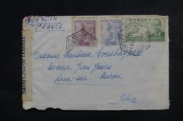 ESPAGNE - Censure De Santa Cruz Sur Enveloppe Pour La France En 1941, Affranchissement Plaisant - L 46802 - Marques De Censures Nationalistes