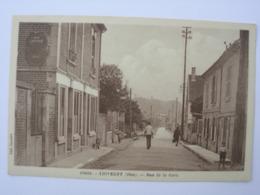 CPA Thiverny. Oise.60. Rue De La Gare - Other Municipalities