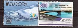 Kazakhstan 822 Europa 2018 Avec Vignette Neuf ** TB MNH Sin Charnela - 2018