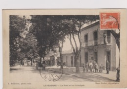 ALGERIE , LAVERDURE , La Poste Et Rue Principale - Argelia