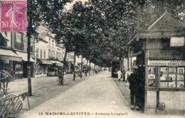 78  MAISONS LAFFITTE  AVENUE LONGUEUIL  AVEC KIOSQUE A JOURNAUX - Maisons-Laffitte