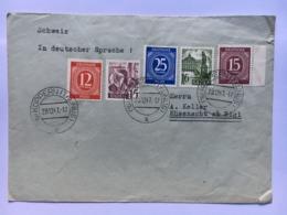 GERMANY 1947 Allied Cover Koppern To Kussnacht Am Rigi Switzerland - Franse Zone