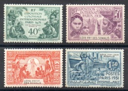SOMALIS - YT N° 137 à 140 - Neufs * - MH - Cote: 33,00 € - Nuovi