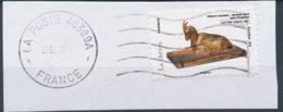 France - Animaux Dans L'Art (Chèvre) YT A775 Obl. Ondulations Et Dateur Rond Sur Fragment - Adhésifs (autocollants)