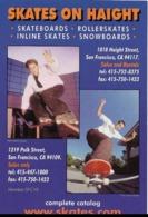 """Les Skates Aux USA : """"Skates On Haight"""" - Carte Publicitaire D'un Magasin En Ligne De Skates à San Francisco. CPSM. - Skateboard"""
