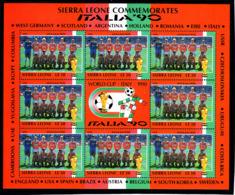 Soccer World Cup 1990 - Football - SIERRA LEONE - 24 Sheets MNH - 1990 – Italien
