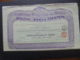HONGRIE 6 CIE HONGROISE DE MINES - MAGYAR BANYA TARSASAG - BRUXELLES 1903 6 ACTION SANS DESIGNATION DE VALEUR - Shareholdings