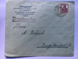 GERMANY 1921 Cover Unna Konigsborn To Burgsteinfurt - Germania