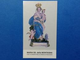 Santino Holy Card Image Pieuse Maria SS Della Montagna Radicena - Santini