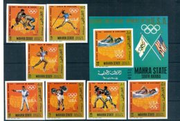 A32900)Olympia 68: Mahra State 115 - 121 B** + Bl 13 B** - Sommer 1968: Mexico