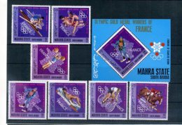 A32901)Olympia 68: Mahra State 123 - 129 A** + Bl 14 A** - Estate 1968: Messico