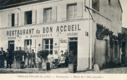 78   VIEILLE EGLISE HOTEL RESTAURANT DU BON ACCUEIL - Francia
