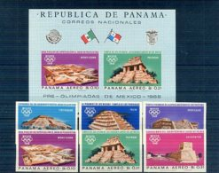 A33077)Olympia 68: Panama 981 - 986** + Bl 69** - Sommer 1968: Mexico