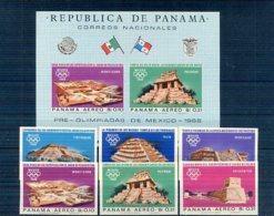 A33077)Olympia 68: Panama 981 - 986** + Bl 69** - Ete 1968: Mexico