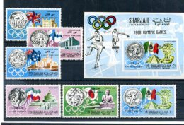 A33108)Olympia 68: Khor Fakkan 164 - 169 A** + Bl 15 B** - Sommer 1968: Mexico