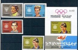 A33167)Olympia 68: Sharjah 527 B** + 532 - 533 B** + 538 B** + Bl 48 B** - Sommer 1968: Mexico