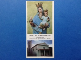 Santino Holy Card Image Pieuse S Maria Di Monserrato Quattromiglia Rende - Santini