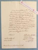 L.A.S 1820 Comte Lalmand De NANTOUILLET Duc De Berry & Bordeaux Comte Chambord Palais Elisée - Dusausoir - Lettre Elysée - Autografi