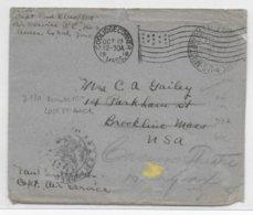 1918 - ARMEE AMERICAINE En FRANCE - ENVELOPPE US EXP APO N° 713A (ROMORANTIN LOIR ET CHER) CENSURE => USA - 1. Weltkrieg 1914-1918
