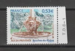 FRANCE / 2005 / Y&T N° 3777 ** : Aix-en-Provence (Bouches-du-Rhône) X 1 BdF Avec N° De Presse - Neufs