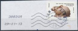 France - Animaux Dans L'Art (Lapin) YT A776 Obl. Cachet Rond Manuel Et Empreinte Toshiba Sur Fragment - Adhésifs (autocollants)