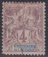 French Oceania, Scott #3, Used, Navigation And Commerce, Issued 1892 - Oceania (1892-1958)