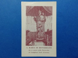 Santino Holy Card Image Pieuse S Maria Di Monserrato Castiglione Scalo Cosenza - Santini