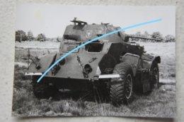 Photo ABL ARMOURED CAR T17E1 Staghound Autoblindée Automitrailleuse Militaria Belgische Leger Armée Belge - Aviation