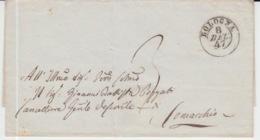 LAC Du 08/12/1847 BOLOGNA RAVENNA GRIFFES - ...-1850 Préphilatélie