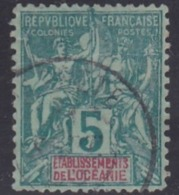 French Oceania, Scott #4, Used, Navigation And Commerce, Issued 1892 - Oceania (1892-1958)