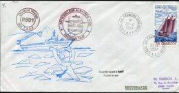 """15588 T.A.A.F  PA97°Voilier J.B. Charcot  10é. Voyage Du Patrouilleur """"Albatros""""   REC.  Du 22.4.1987   TB - Cartas"""