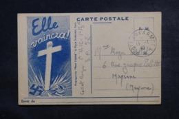 FRANCE - Carte FM  ( Pour L 'Unité - Elle Vaincra ) Du SP 57 Pour Mayenne En 1940 - L 46816 - Marcophilie (Lettres)