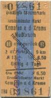 Österreich - ÖBB Kremsmünster Markt Kematen A. D. Krems Nußbach - Ermäßigte Rückfahrkarte - Fahrkarte 2. Kl. Personenzug - Bahn