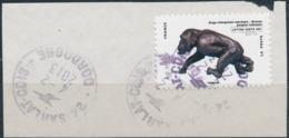 France - Animaux Dans L'Art (Chimpanzé) YT A782 Obl. Cachet Rond Manuel Sur Fragment - Adhésifs (autocollants)