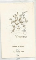 Menu De Mariage De Simone Et Jacques Le 3 Août 1968. Doré. - Menus