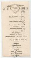 Menu De Communion D'Alice Marceau Le 11 Octobre 1945. Doré. Lot De Deux Exemplaires. - Menus